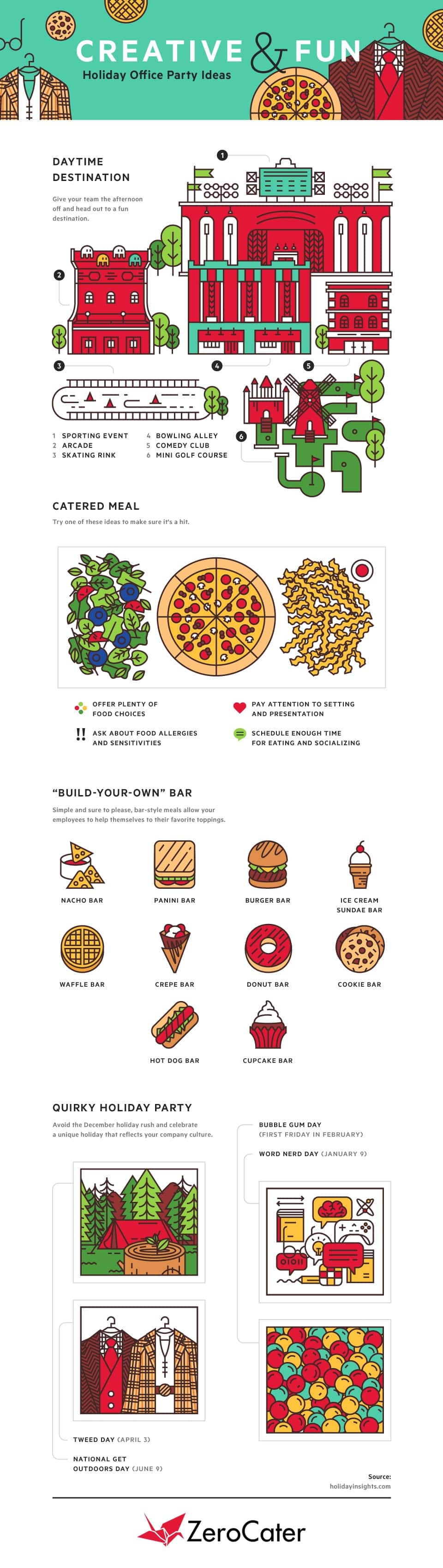 Creative Holiday Party Ideas InfoGraphics
